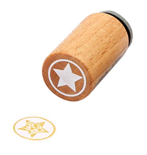 Woodies Mini Stempel Stern, Holz, 1,5 x 1,5 x 3 cm