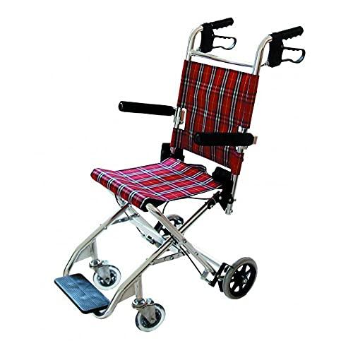 Silla de ruedas para transporte de pacientes, Facilita el traslado de usuarios, Con tapicería alegre y estampada, Ruedas traseras pequeñas de 15 cm de diámetro