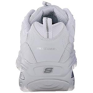 Skechers womens D'lites - Fresh Start Fashion Sneaker, White, 8.5 Wide US