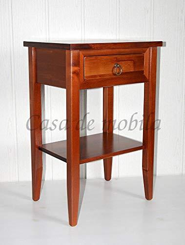Casa Massivholz Pappel Nachttisch kirschbaumfarben Nachtkonsole rotbraun Beistelltisch Telefontisch