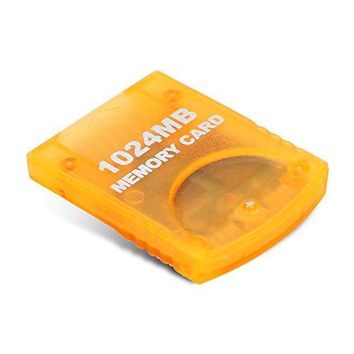 Heayzoki Carte mémoire pour WII, Accessoires de Jeux Portables Stick de Carte mémoire Gamecube 1024 Mo de Grande capacité pour Console de Jeux WII, Performances de Transmission Rapides et efficaces