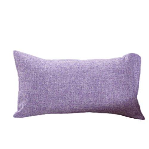LONUPAZZ Simple Fashion Throw almohada de café funda de cojín sofá diseño de la casa, algodón, morado, 30_x_50_cm
