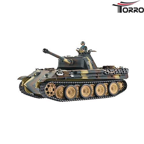 Torro Panther G Profi Metallausführung BB Version Braun/TarnTORRO Panzer mit Holzkiste