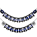 Congrats Officer Banner Police Academy Graduation Party Decoration Supplies Cops Retirement Photo Prop 2020 Gift Ideas Blue Line Garland
