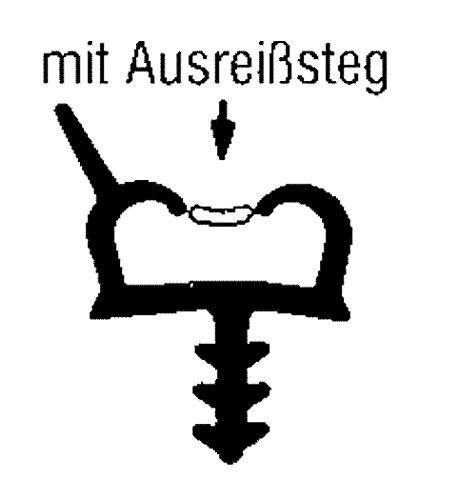5m-Holzzargendichtung Türdichtung 12mm Falzbreite - 2,8mm Nutbreite in Beige,Braun, Weiss - WTD 3440 Farbe Weiss