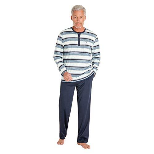 hajo, Schlafanzug Klima-Komfort 53292 Marine 48