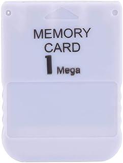 Diyeeni Memory Stick portátil Memory Card de 1MB para Sony PS1 Compatible con Cualquier Juego de Playstation One Blanco