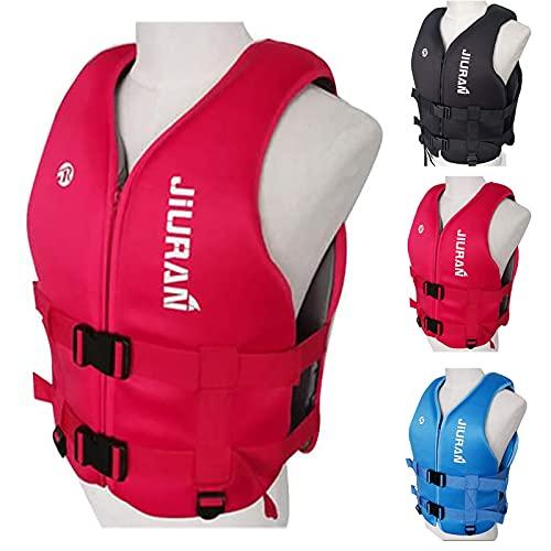 Chaleco Salvavidas para Niños Adultos, Chaleco De Flotabilidad Profesional con Correa De Seguridad Ajustable para Kayak, Bote, Vela, Sup Y Otros Deportes Acuáticos