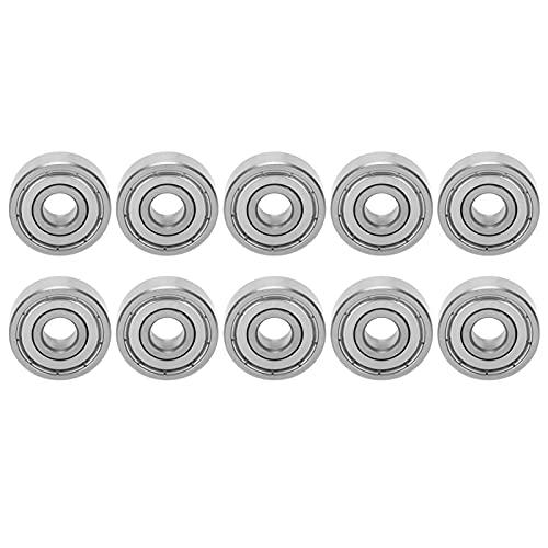 Rodamientos de acero inoxidable, 10 piezas de rodamientos Rodamientos de bolas Rodamiento...