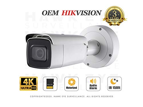 4K PoE Security IP Camera - Compatible with Hikvision DS-2CD2685G0-IZS UltraHD 8MP Vari-Focal EXIR Bullet Onvif Weatherproof 2.8-12mm Motorized Lens Best Home Business Security 3 Year Warranty