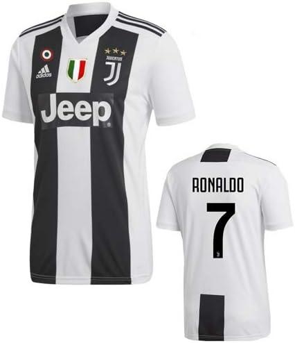 adidas Juve H JSY, Maglia Gara Home 2018/2019 Cristiano Ronaldo, Uomo