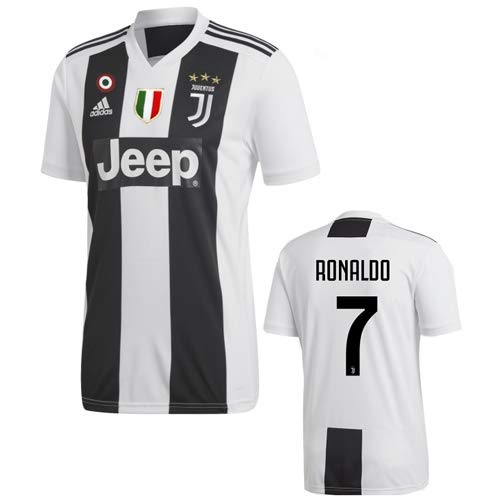 adidas Juve H JSY, Maglia Gara Home 2018/2019 Cristiano Ronaldo, Uomo, Bianco (Bianco/Nero), M