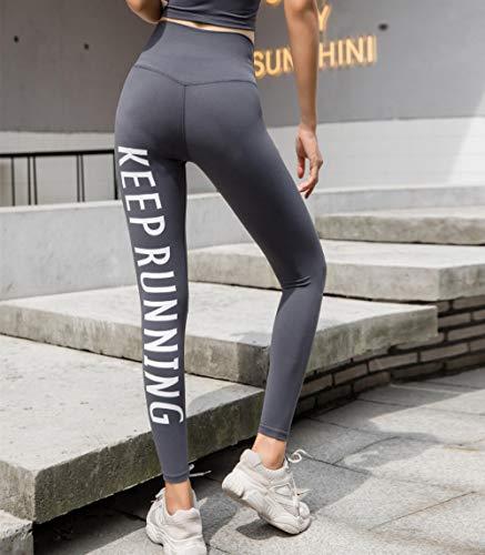 FDSHOSFH - Pantalones de fitness, pantalones de deporte, leggings, caderas ajustadas, delgados y de secado rápido, Gris, L
