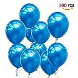 JOJOR Globos Azules,100 Piezas Azul Globos Helio Latex Perla Ø 30 cm...