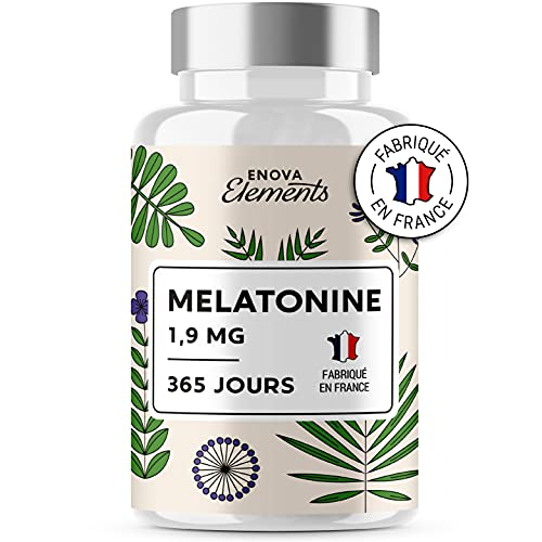 MÉLATONINE 1,9MG - 1 an d'Approvisionnement 365 Comprimés - Endormissement, Sommeil, Jetlag - Fabriqué en France