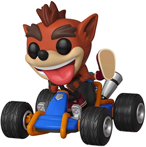 Funko- Pop Rides: Crash Bandicoot Figura Coleccionable, Multicolor, Estándar (40950)