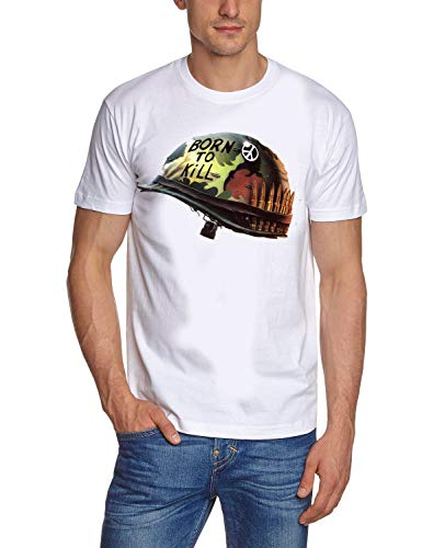 Coole-Fun-T-Shirts Full Metal Jacket borm to kill Original White maten S M L XL 2XL