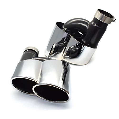OutdoorKing Auspuffendrohre für Autoteile Edelstahl-Schalldämpfer-Spitze Siver-Endrohr Für Audi A4 A5 A6 A7 Auspuffspitze Mit Wald Bumper S Body Kit Modifiziert