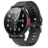 AGPTEK Smartwatch Ragazzi Uomo Donna IP68 Orologio Fitness Leggero 42g con Touchscreen da 1,3' Orologio Uomo Sportivo Cardiofrequenzimetro da Polso Android iOS (G22,nero)