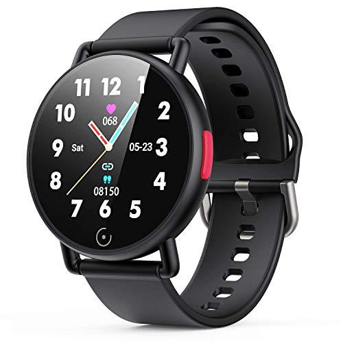 """AGPTEK Smartwatch Ragazzi Uomo Donna IP68 Orologio Fitness Leggero 42g con Touchscreen da 1,3"""" Orologio Uomo Sportivo Cardiofrequenzimetro da Polso Android iOS (G22,nero)"""