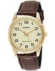 Casio men's Watch with Genuine Leather