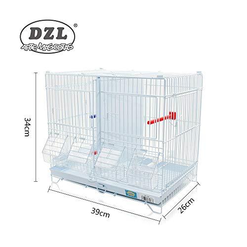 DZL® Jaula metálica de criar para pájaros (39 * 26 * 34cm S)