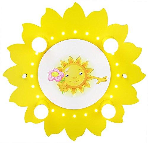 Plafonnier (pour 4 ampoules), soleil, \