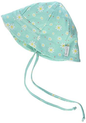 Sterntaler Fischerhut für Mädchen mit Bindebändern, Nackenschutz und Blümchenmuster, Alter: ab 6-9 Monate, Größe: 45, Mint