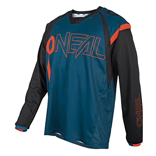 O'NEAL | Mountainbike-Trikot | MTB Mountainbike DH Downhill FR Freeride | Atmungsaktives Material, maximale Bewegungsfreiheit | Element FR Jersey Hybrid | Erwachsene | Petrol Orange | Größe L