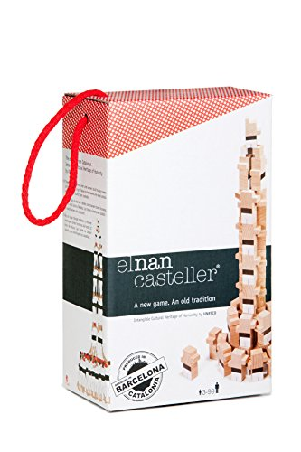 El Nan Casteller castellers | Juegos de Construcción 40 Piezas Color, Madera, Rojo, Blanco, Negro (v00)