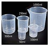 HXF Hxfang 5 Piezas/Conjunto Cubo de plástico PP de Grado alimenticio Copa de medición Turnable Espátula Equipo de Laboratorio (Capacity : 1 Set)