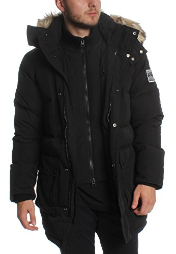 Superdry Parka Herren SD Expedition Parka Black, Größe:L