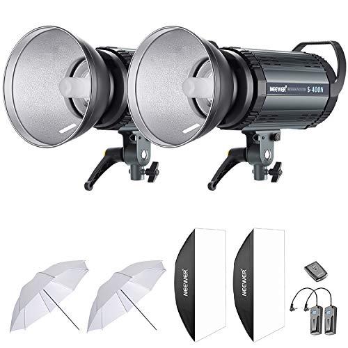 Neewer 800W Estudio Flash Estroboscópico Fotografía Iluminación Kit