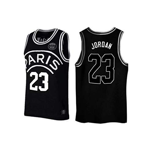 Grand Paris # 23 Jordan # 7 Mbappe # 10 NEYMARJR Basketball Wear Basketball Kleidung, Swingman Basketball Jersey (Color : 23, Size : M)