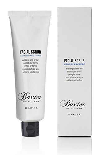 Baxter of California Exfoliating Facial Scrub for Men   Non-Drying with Walnut and Avocado Oil   All Skin Types   4 Fl Oz