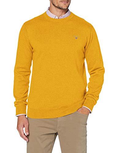 GANT Herren Cotton Wool Crew Pullover, IVY Gold, XL