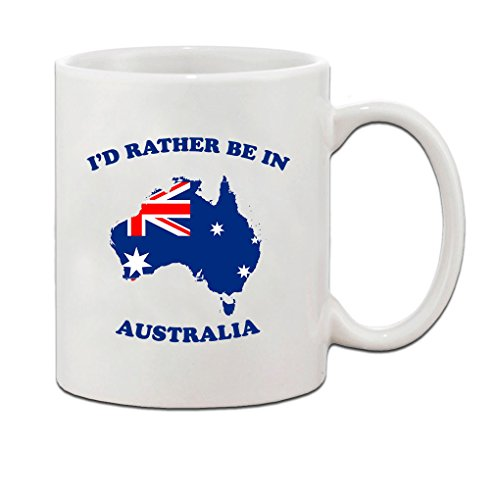 I'D Rather Be In Australia Ceramic Coffee Tea Mug Cup Holiday Christmas Hanukkah Gift For Men & Women