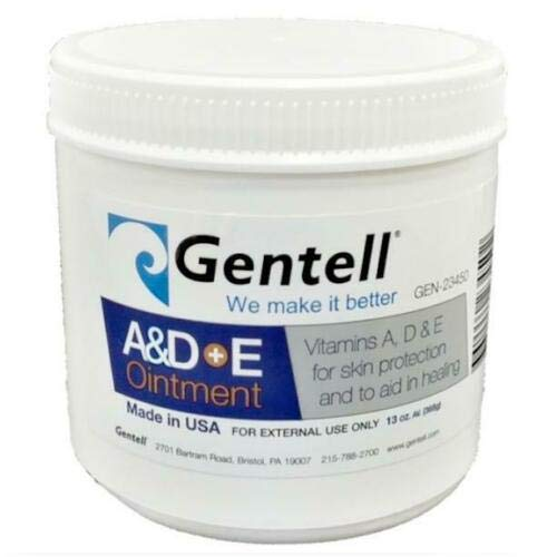 A & D Plus E Ointment, Gentell - 13 Oz. Jar - Medicinal Scent Ointment, Skin Protectant | A+D & E Vitamins First Aid | Seals Out Wetness | Helps Prevent Baby Diaper Rash - Pack of 4