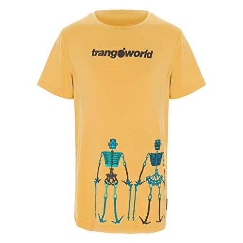 Trangoworld Teleno T-Shirt Mixte Enfant, Jaune Moutarde, 08