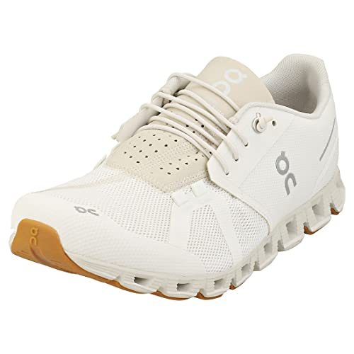 ON Running Mens Cloud Mesh White Sand Trainers 12 US
