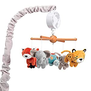 Lambs & Ivy Wild Life Musical Baby Nursery Crib Mobile – Protect The Animals