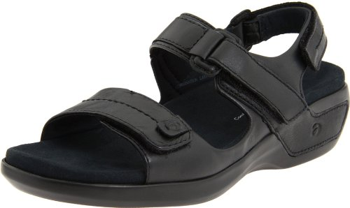 Aravon Womens Katy,Black Leather,10 W (D) US