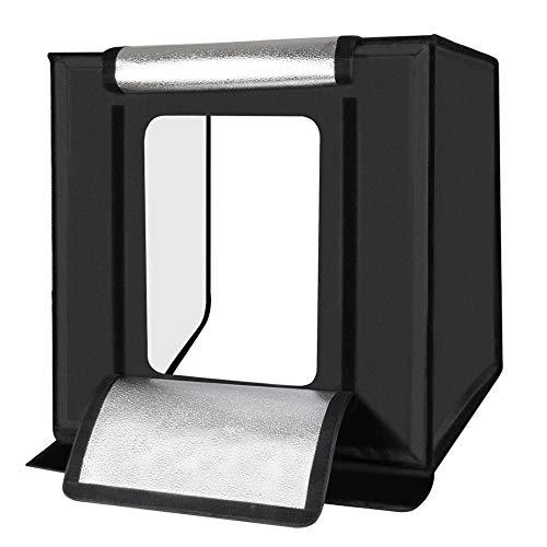 HLVU Photography Light 16 inch 40cm Folding Portable Photo Studio Box Kit Photography Selfie Light Selfie Photography (Color : Black, Size : One size)