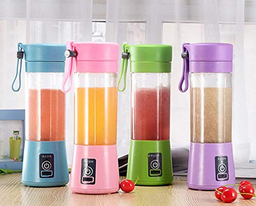 Portable Blender,Personal Size Blender for Smoothies and Shakes, 380ML Handheld Fruit Mixer Machine USB Rechargeable Juicer Cup, Ice Blender Mixer Home/Office/Sports/Travel/Outdoors (Purple)
