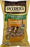 Snyder's of Hanover Family Size Pretzels 16 oz. Bags (Sourdough Hard, 3 Bags)