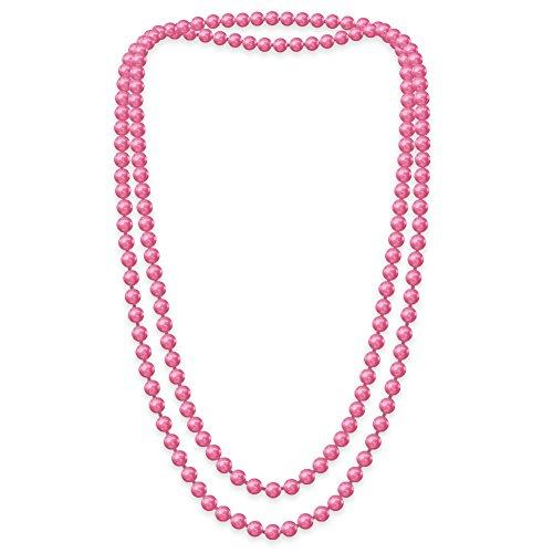 SoulCats Eine süße Kette Perlenkette Perlen viele Farben XXl lang pink blau creme, Farbe:pink;Kettenlänge:148 cm
