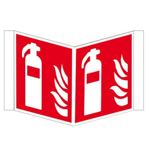 Feuerlöscher - Winkelschild Kunstsoff ISO 200 x 200 mm