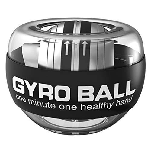 HISROOM Basic Gyroskopischer Handtrainer Muskeltrainer Rotations-Ball Für Hand- Und Armtraining Platinum Selbststart Super Gyro Gripball Wrist Force Ball Handgelenkball,with Lights