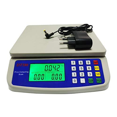 WCX Balance Cuisine Electronique de Précision - Balance Numérique Haute Précision, Acier Inoxydable LCD Rétroéclairé Auto-arrêt 10kg - 30kg (Couleur : Blanc, taille : 25kg/1g)