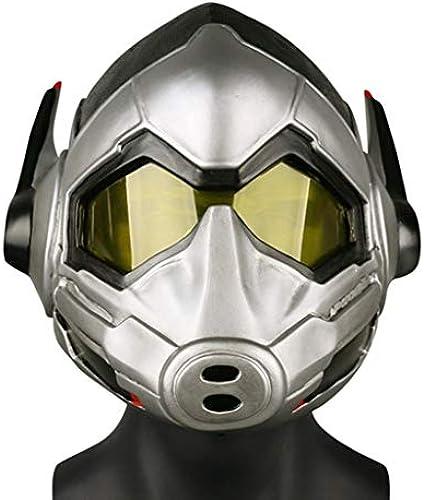 SDKHIN Ameisenmann 2 Die Wespe Weißliche Maske von Ameisenmann und Wespe Helm Halloween Requisiten Cosplay leichte Maske,Silver-OneGröße